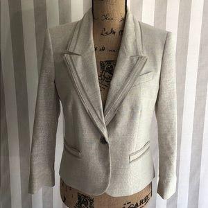 LOFT silver sparkle blazer suit jacket